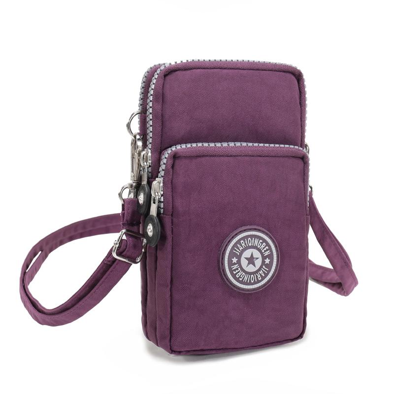手腕包新款零钱包手拿斜跨包单肩包迷你手机包女迷你挎脖小包包 紫色