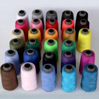 勾帽子的线 5个装缝衣线缝纫机线涤纶针线彩色白宝塔线结实耐磨402家用手缝线D 29种颜色,每种1个(全家福装)