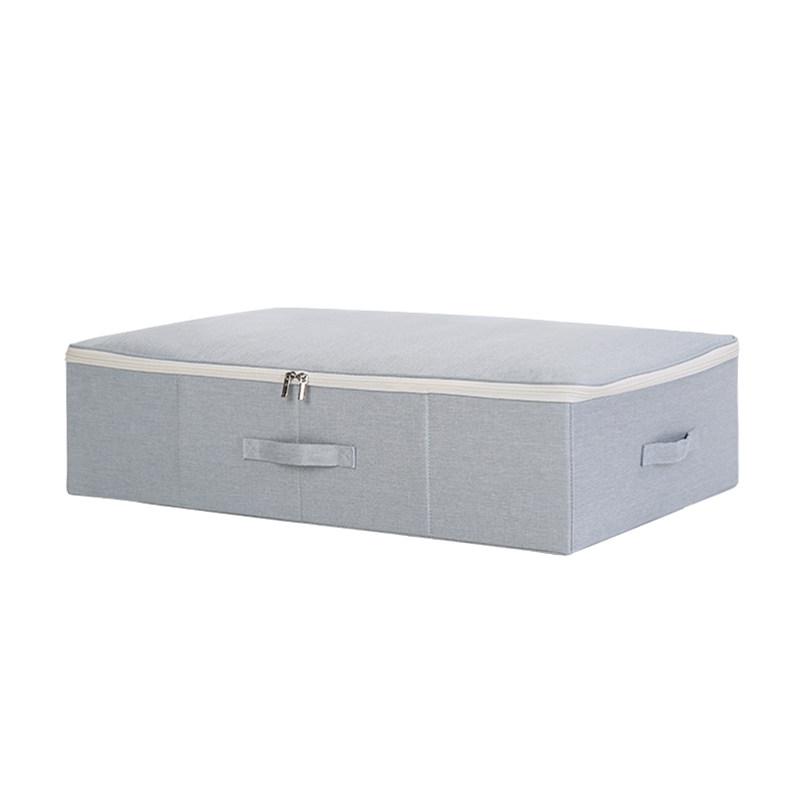 床底收纳箱布艺整理箱储物箱被子特大号床下扁平箱子装衣服收纳盒  大号:70X48X18 cm