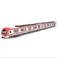 1:87玩具地铁模型火车模型儿童玩具火车声光回力车磁力语音功能