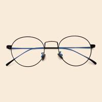 手机电脑护目防蓝光眼镜框女复古眼睛男圆框平光镜可配