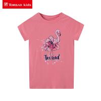【折后价:58.9元】探路者儿童 春夏户外女童抗菌短袖T恤QAJH84007