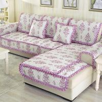防滑布艺沙发垫欧式四季通用防滑现代简约坐垫全包沙发套罩巾