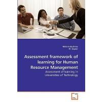 【预订】Assessment Framework of Learning for Human Resource Man