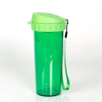 特百惠茶韵随心水杯子500ml塑料防漏便携运动茶杯 柠檬绿
