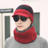 征伐 户外帽男 帽子围脖套装冬季加绒加厚针织毛线帽套头护耳保暖青年帽