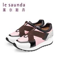 【顺丰包邮,大牌价:286】莱尔斯丹 专柜款女鞋休闲鞋厚底单鞋8M32009