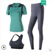 韩系瑜伽服套装女新款显瘦健身房跑步服装女套装运动速干显瘦