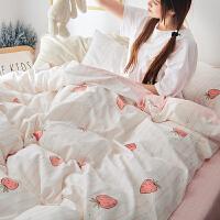 床上四件套公主网红款床单被套少女心三件套床品