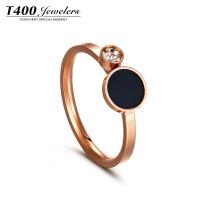 T400戒指女日韩个性潮人食指指环简约百搭创意欧美首饰品装饰戒指 4525