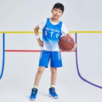 【1件4折到手预估价:58】儿童21夏新品男童篮球套装透气舒适男童运动套装亲肤柔软套装男K52021402