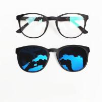 201808250626018新款磁吸近视太阳镜夹片式男女偏光镜司机驾驶套镜复古潮墨镜眼镜框架