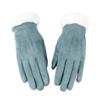 手套女冬季秋冬季时尚加绒韩版加厚保暖可爱学生触屏户外骑行开车防滑手套