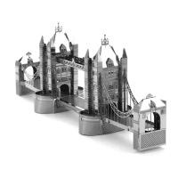 爱拼 全金属DIY 拼装模型3D 纳米立体拼图 伦敦塔桥 黄铜版 不锈钢版 金色 银色