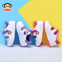 大嘴猴童鞋女童革面休闲鞋2018春季新款小女孩防滑休闲鞋儿童板鞋