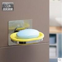双庆5021浴室肥皂盒香皂架创意吸盘香皂盒肥皂架沥水皂盒皂托无痕贴SQ1174