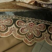 君别奢华美式韩国绒渐变色窗帘成品欧式别墅客厅卧室遮光定制 米
