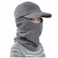 加厚抓绒帽秋冬季护耳帽男士保暖帽口罩骑车帽子户外防风帽冬帽女
