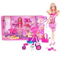 新款美泰芭比娃娃BCF82 玩具屋套装礼盒芭比女孩之宠物乐园