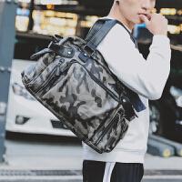 男士旅行包 休闲男包潮男街手提包 休闲出差单肩斜跨包 迷彩色