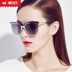 威古氏太阳镜女 时尚金属款墨镜简约新款潮流偏光太阳镜9081