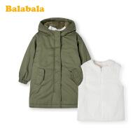 巴拉巴拉女童棉衣宝宝棉服秋冬2019新款儿童小童派克服外套两件套