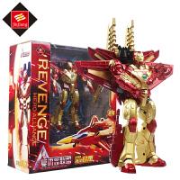 变形玩具金刚4 钢铁侠复仇者联盟飞机机器人儿童动漫手办模型