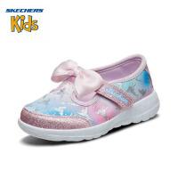 【限时抢:99元】斯凯奇(SKECHERS)女童鞋 玛丽珍公主鞋 蝴蝶节贴搭带休闲鞋81587N 樱桃粉色