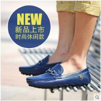 Afs Jeep/战地吉普男士真皮豆豆鞋 新款日常休闲套脚驾车鞋子K0225