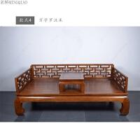 榆木家具全实木床罗汉榻中式仿古卧榻床榻休闲美人榻新古典罗汉床 1.8米