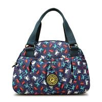 新款手提包女帆布女包中年妈妈单肩斜挎包防水印花休闲小牛津尼龙布包