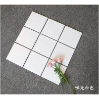 马赛克瓷砖北欧厨房卫生间浴室纯白黑灰色墙砖网格地砖300瓷砖贴彩色马赛克 300*300