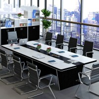 办公家具大型会议桌长桌简约现代长方形新款洽谈桌椅组合