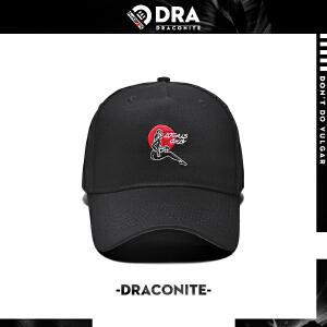 DRACONITE新款潮牌街头嘻哈图案刺绣男女情侣款弯檐鸭舌帽子16239