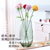 水培绿萝花瓶简约创意玻璃水培植物容器插花瓶透明风信子花瓶花盆 中等