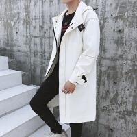 风衣男士外套休闲秋冬大衣青年韩版潮流帅气中长款连帽夹克DJ-DS173风衣