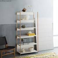 北欧简约现代金色不锈钢书架置物架摆设装饰架陈列架样品架展示架