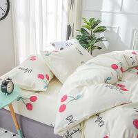 春夏季床上四件套床单网红被套女1.8m小清新学生宿舍单人床三件套