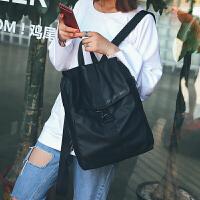 简约防水尼龙布书包双肩背包男女韩版潮学生休闲旅行背包