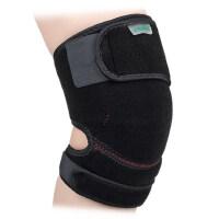 户外登山透气可调节护膝盖 篮球运动保暖护腿护具 缠绕黏贴护腿