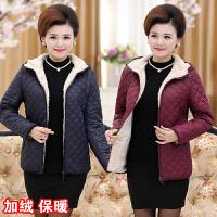 妈妈装棉衣中年女装冬装棉袄中老年外套短款40-50岁加绒加厚