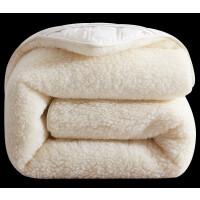 羊毛床垫软垫加厚保暖 冬季羊毛床垫软垫加厚保暖羊羔绒床褥垫褥子垫被毛毯被铺底可定制 升级版【羊毛床垫】白色 下单立减5