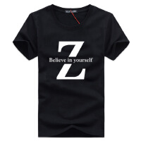 7简男*新款夏季品牌男装 男式t恤纯棉宽松短袖t恤男士半袖