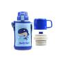 【限时秒杀】杯具熊(BEDDYBEAR)儿童保温杯带吸管316不锈钢双盖两用保温壶600ml 3D版-鲸鱼