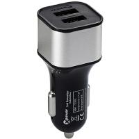 高欣车载充电器X6手机通用3.6A双USB一拖二汽车充+节油器省油器
