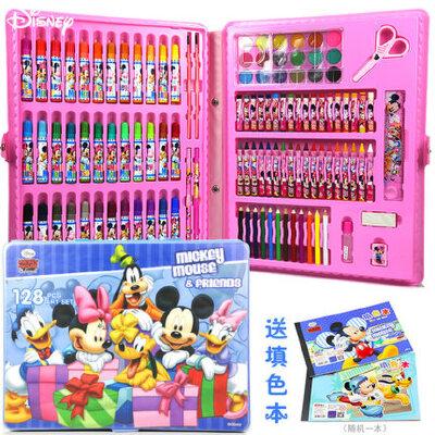 迪士尼学生画画文具儿童画笔套装美术绘画工具大礼盒礼品彩笔蜡笔