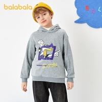 【3件4折:79.6】【唐老��IP巴拉巴拉男童�B帽�l衣2020新款冬�b�和�上衣加�q保暖