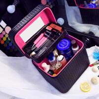 大容量化妆包双层便携手提化妆箱大号约化妆品收纳盒旅行小方包世帆家SN3123