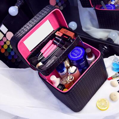 大容量化妆包双层便携手提化妆箱大号约化妆品收纳盒旅行小方包世帆家SN3123 发货周期:一般在付款后2-90天左右发货,具体发货时间请以与客服协商的时间为准