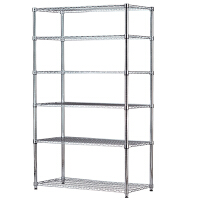 多功能六层厨房置物架厨具层架不锈钢色金属收纳架落地储物架定做